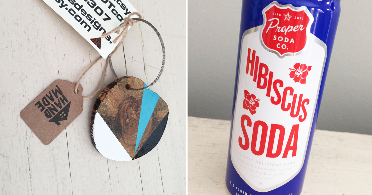 keychain and soda